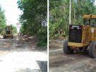 Warga Desa Ladang Panjang, dapat bernafas lega. Sempat Jadi Protes, Pemkab Muaro Jambi Perbaiki kerusakan Jalan di Kecamatan Sungai Gelam