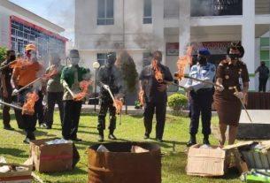 Wakil Bupati Mengapresiasi Pemusnahan BB Narkotika