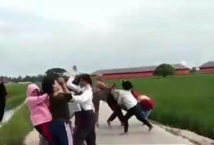 Sebuah video belakangan ini viral di jagat maya. Video tersebut memperlihatkan sekelompok ABG yang terlibat tawuran di pinggiran sawah. Foto : Tangkapan Layar
