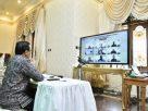 PJS Gubernur Jambi, dan Kepala Perwakilan BI, melepas ekspor Kopi Arabika Kerinci ke Jepang melalui Vidcon, yang berlangsung di Rumah Dinas