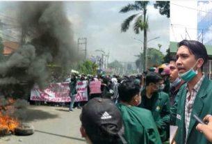 Blokir Jalan di Jambi, Mahasiswa Unbari Ajak Masyarakat Jegal Omnibus Law