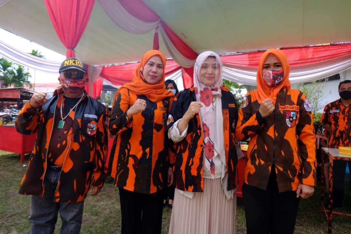 MPW PP Jambi rayakan hari jadi sekaligus Sumpah Pemuda, Rabu (28/10/20). Hadiri HUT Ke 61 Pemuda Pancasila, Ratu jadi tamu kehormatan.