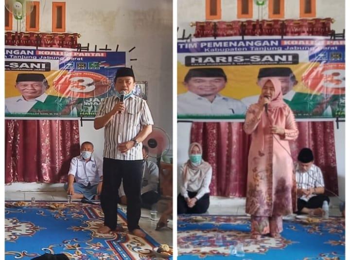 Melanjutkan safari kampanye di Tebing Tinggi, Selasa (20/10/20) Al Haris perkenalkan sang mantan pacar. Calon Gubernur Jambi nomor urut 3.