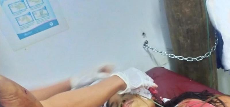 Suami tega menganiaya, hingga bacok sang istri. terjadi di Kampung Sungai Beringin, Rantau Ikil Jujuhan, Kabupaten Bungo.