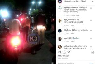 Kali ini, berlokasi di Simpang Karya tepatnya depan SMA N 5 Kota Jambi. Di mana sebuah mobil tabrak warung pecel lele yang tengah berjualan.