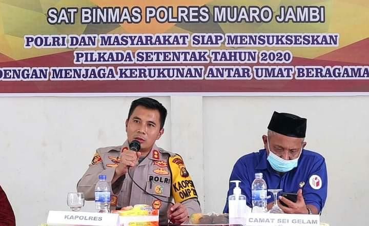 Polres Muaro Jambi mengadakan kegiatan FGD, yang bertempat di Pendopo Kantor Camat Sungai Gelam pada kamis (19/11/2020).