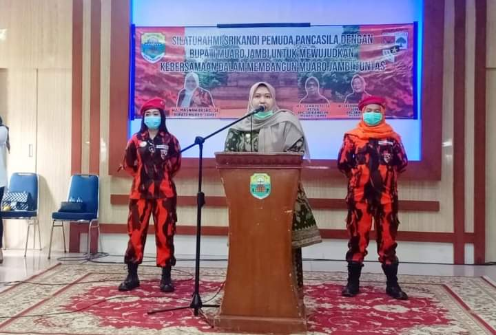 Srikandi Pemuda Pancasila Kabupaten Muaro Jambi, mengadakan silaturahmi dengan bupati Muaro Jambi, Masnah Busro. Hal ini untuk mewujudkan kebersamaan, dalam membangun Muaro Jambi Tuntas.