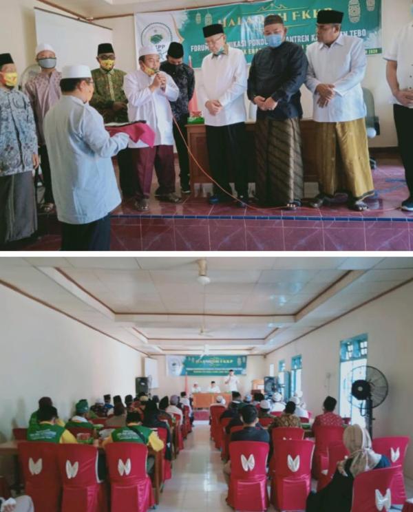 Forum Komunikasi Pondok Pesantren (FKPP) Kabupaten Tebo yang dukungan dan menitipkan pembangunan Jambi kepada CE-Ratu bila terpilih.