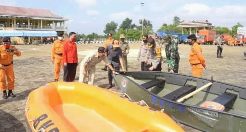 Pemkab Batanghari Gelar Apel siaga darurat Bencana banjir melalui (BPBD) setempat. di arena Ex-MTQ Muara Bulian, pada Kamis (12/11) pagi.