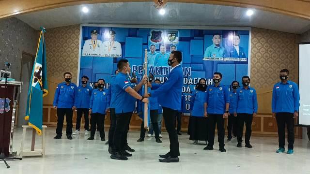 Pengurus DPD Komite Nasional Pemuda Indonesia (KNPI) Kabupaten Tanjabbar periode 2020 - 2023, resmi dilantik dan dikukuhkan.