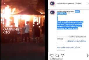 Baru saja, terjadi kebakaran sebuah gedung di kawasan Tugu Juang Kota Jambi hangus terbakar, Rabu malam (16/12/2020). Hal ini pun sontak membuat heboh warga setempat.