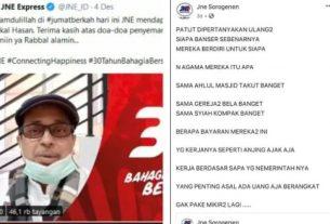 Seruan boikot pada perusahaan pengiriman ekspres, JNE viral. Video ucapan pendakwah Haikal Hassan jadi sorotan setelah #BoikotJNE trending di Twitter. PT Tiki Jalur Nugraha Ekakurir (JNE) memberikan tanggapan.