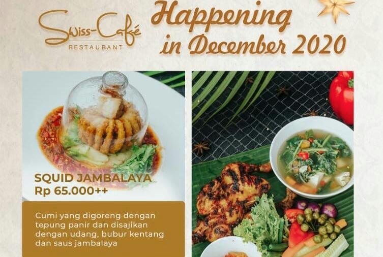 Manjakan lidah pecinta kuliner di Jambi, awal bulan Desember 2020 ini, Swiss-Belhotel Jambi, meluncurkan menu spesial. Apa aja, yuk intip di bawah ini.