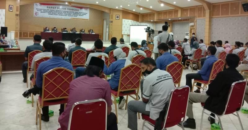 Pelaksanaan Rapat Pleno Rekapitulasi tingkat Kabupaten di Tanjung Jabung Barat, Rabu (16/12/20) dilaksanakan oleh KPU Tanjabbar,