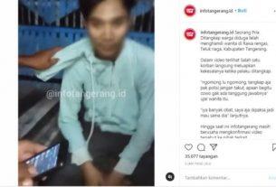 Sebuah video yang memperlihatkan seorang pria yang tengah di interogasi warga. Lantaran pria tersebut diduga telah hamili wanita