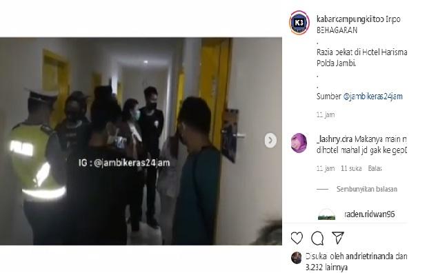 Baru-baru ini sejumlah pasangan bukan suami istri, terciduk oleh aparat kepolisian Polda Jambi saat razia pekat di Hotel Harisman Kota Jambi, Senin malam (30/11/2020).