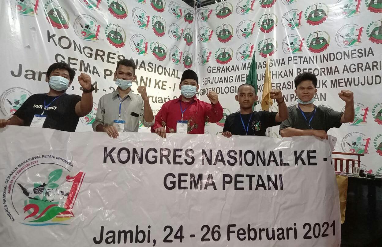 Gerakan Mahasiswa Petani Jambi, kongres pertama dan di percayai menjadi tuan rumah dalam perhelatan skala nasional, Sabtu (27/02/2021).
