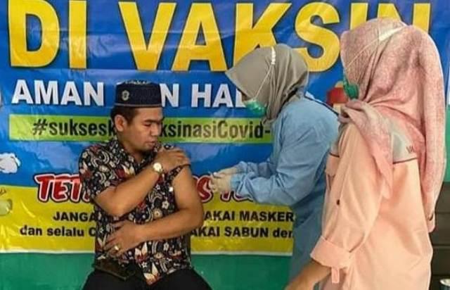 Ketua DPRD Kota Sungai Penuh H Fajran SP MSi, telah rampung mendapatkan dua kali suntikan dosis vaksin Covid-19.