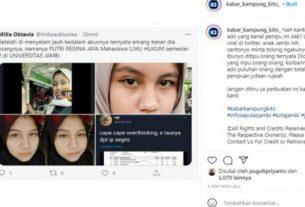 Baru-baru ini beredar seorang perempuan anak Jambi, hingga viral di Twitter. Kabarnya wanita ini di duga melakukan penipuan. Dengan modus memelas agar warganet iba karena jualan kue ibunya di batalkan pesanan.