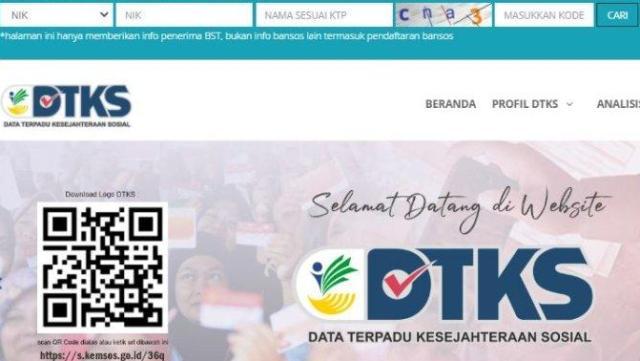 Cek situ dtks.kemensos.go.id untuk melihat data penerima Bantuan Sosial (Bansos) untuk bulan ini, siapa tau ada nama anda di situ.
