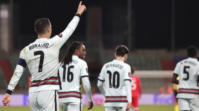 Lagi-lagi Ronaldo bawa kemenangan untuk Timnas Portugal di laga Kualifikasi Piala Dunia 2022, dengan membungkam tuan Luksemburg 3-1 di grup A. Foto : Portugal Net