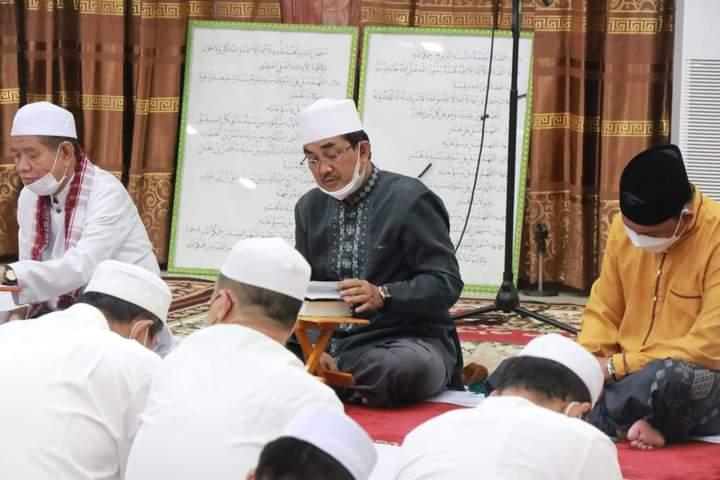 Pemerintah Kabupaten Tanjung Jabung Barat, melaksanakan giat Pengajian Ramadhan Di Rumah dinas Jabatan Bupati Tanjabbar, Jum'at (16/4/21).