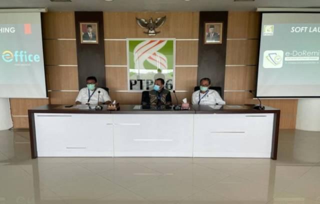 PT Perkebunan Nusantara (PTPN) VI Kembali Launching aplikasi berbasis Android, dalam mewujudkan Core Values 'AKHLAK'. Acara tersebut, di laksanakan di ruang rapat lantai 3, Jumat (23/04/2021).