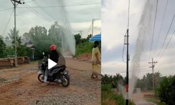 Jelang jam waktu buka puasa Kamis (06/05/2021), beredar video pipa minyak Pertamina di kawasan Kenali Asam Bawah bocor. Warga pun di buat panik.
