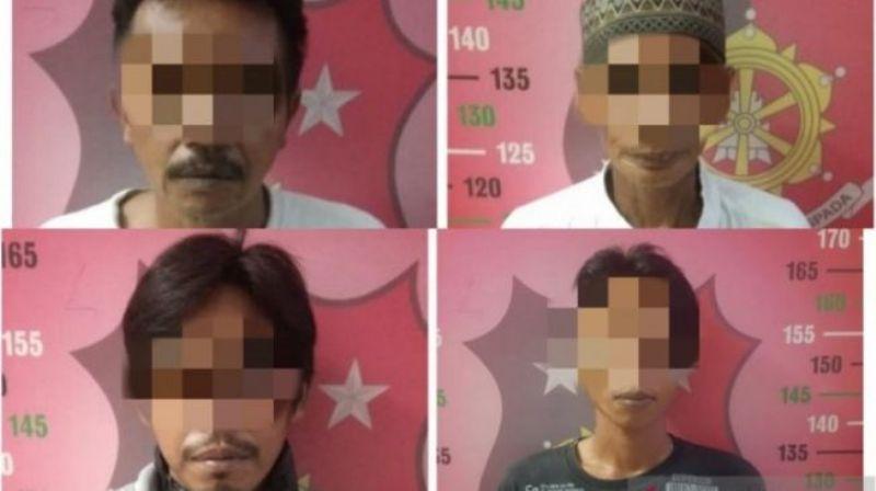 Satuan Reskrim Polres Hulu Sungai Tengah,Kalimantan Selatan, akhirnya sukses membongkar kasus penemuan mayat dipocong. Ternyata, mayat tersebut dihabisi 4 orang dari keluarga sendiri