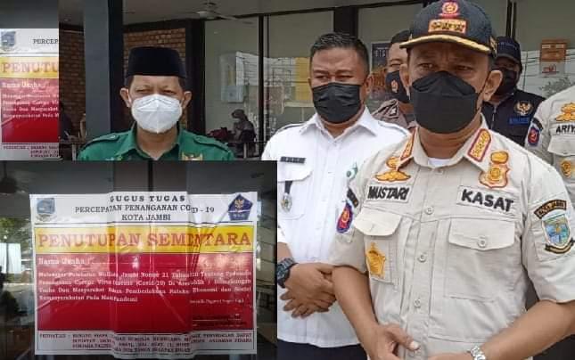 Niat ingin lakukan promo secara serentak di seluruh Indonesia, McDonald's Jambi malah disegel Satpol-PP Kota Jambi, Rabu (09/06/2021).