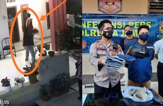 Buntut panjang pengrusakan rumah salah satu warga di jambi, yang videonya sempat viral di media sosial waktu lalu. Kini, sang pelaku sudah di amankan oleh polisi.