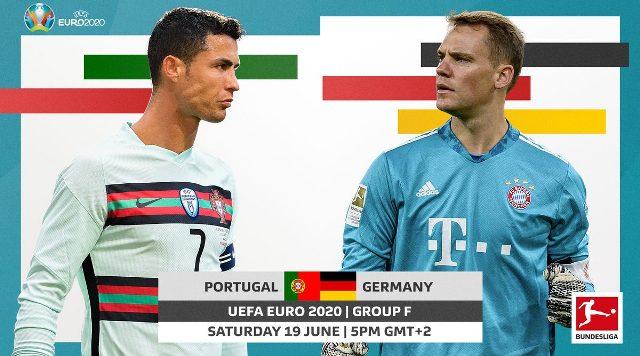 Berikut jadwal EURO 2020 dan prediksi skor pertandingan Portugal vs Jerman, yang berlangsung pukul 23.00 WIB pada Sabtu, 19 Juni 2021.