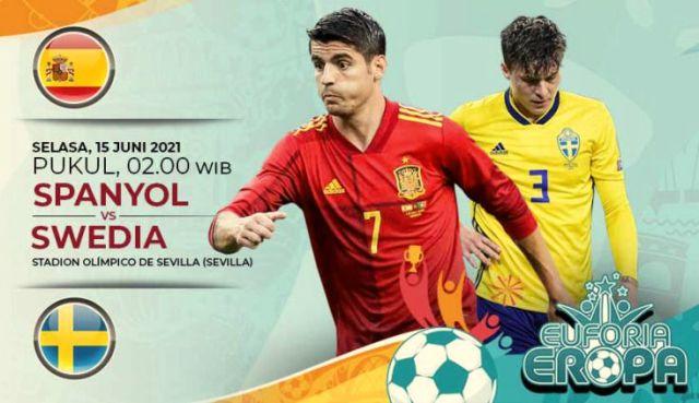 Pertandingan babak penyisihan grup antara Spanyol Vs Swedia, bakal di nanti para penggemar dua negara ini. Betapa tidak, Spanyol merupakan salah satu kandidat kuat yang di jagokan tiap ajang sepakbola dunia di gelar. Takut ketinggalan, yuk intip berikut link live streaming EURO 2021 Senin dan Selasa.