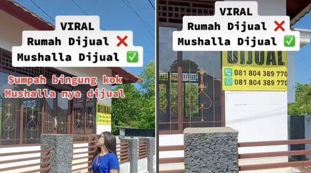 Jagat maya kembali di hebohkan dengan sebuah video yang beredar di TikTok, di mana sebuah musholla di jual. Warganet pun bertanya, kok bisa?