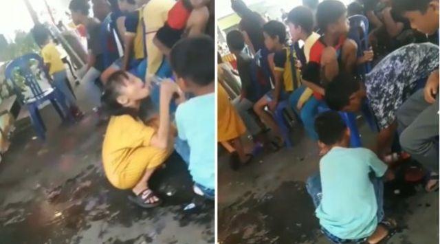 Beredar aksi bocah terekam asyik Minum-minuman di acara hiburan desa, diduga minuman keras. Hal ini pun viral di Media Sosial (Medsos).