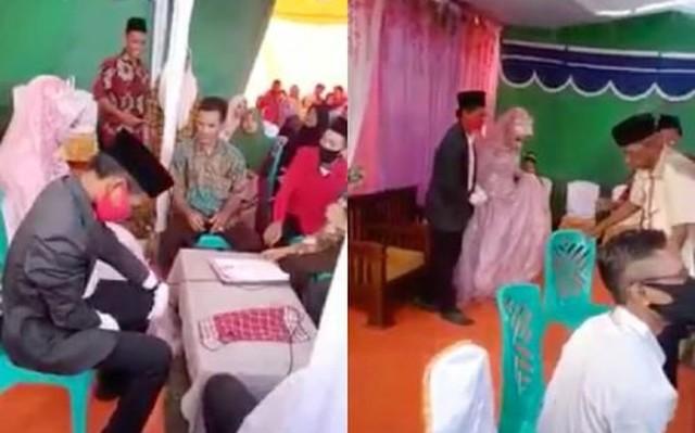 Warganet di hebohkan oleh video viral di Facebook, yang memperlihatkan momen pilu seorang istri ditalak suami usai melakukan ijab kabul di atas pelaminan. Bagaimana kisahnya?