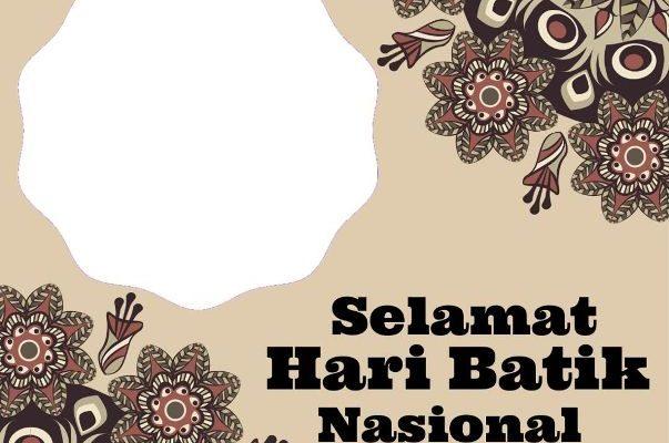 Bingung mau rayakan hari batik nasional yang bertepatan dengan 2 Oktober 2021 ini, jangan khawatir kalian bisa buat ucapan melalui twibbon menarik ini. Berikut link nya.